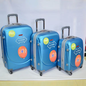3PCS Luggage Travel Set Bag ABS Trolley Hard Shell Suitcase pictures & photos