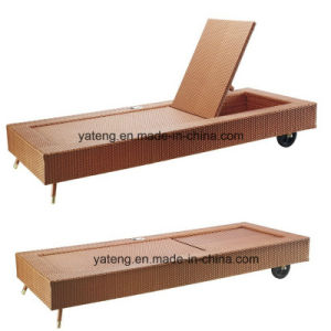 Auto Adust Back Outdoor Swimming Pool Lounge with Wheel Beach Lounge with Wheel (YTF888T) pictures & photos