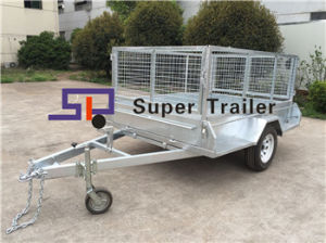 8ftx5FT Single Axle Galvanised Box Trailer with Removable Cage