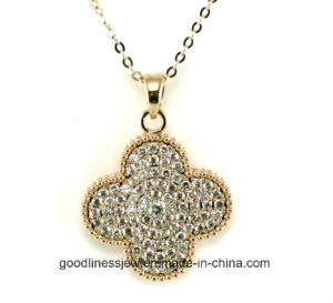 Hot Best Selling Small Clover Fashion Korea Pendant Necklace (N6600) pictures & photos