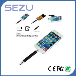 Multi-Functional Touch Stylus Pen Power Bank Pen with Pocket Clip pictures & photos