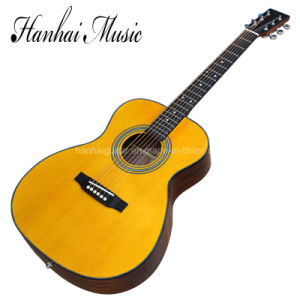 Hanhai Music/ 41′′ 00028 Yellow Acoustic Guitar with Top Solid pictures & photos