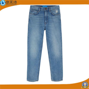 China Produce New Style Fashion Men′s Basic Denim Blue Jeans pictures & photos
