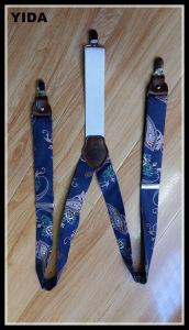 2016 Fashion High Quality Silk Fabric Suspender Leather Belt for Fashion Accessories (YD-15377)