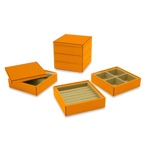 Lacquer Stacking Jewelry Box (Set of 3) pictures & photos