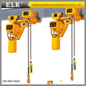 Elk 2.5ton Low Headroom Electric Chain Hoist with Electric Pulley pictures & photos