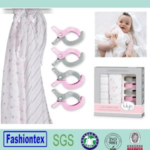 Gift Pram Pegs Sets Baby Cotton Gauze Wrap Swaddle Blanket pictures & photos