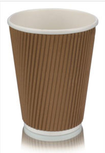 12 Oz Disposable Ripple Paper Cup