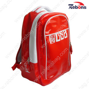 Red Glossy Shiny Waterproof PVC Leisure Bag Backpack pictures & photos
