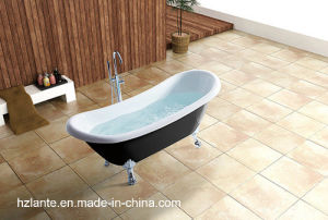 Hot Red Classic Acrylic Bathtub with Aluminum Alloy Feet (LT-11TR) pictures & photos