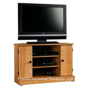 Living Room Furniture Highland Oak Wooden Corner TV Stand (TVS03) pictures & photos