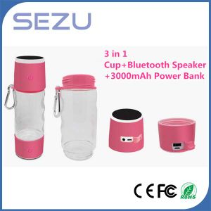 Multi-Function Water Bottle Power Bank with Waterproof Bluetooth Speaker Power Bank Charger pictures & photos