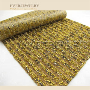 New Style Hotfix Rhinestone Mesh with Metal Balls and Rhinestone pictures & photos