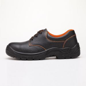 Industrial Worker PU Footwear Leather Safety Shoes pictures & photos