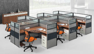 New Design 6 Person Seats Modular Office Partition Workstation (HF-CA006) pictures & photos