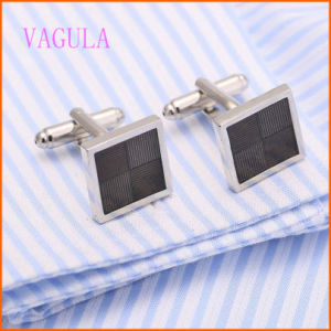VAGULA Rhodium Plated Men′s New Arrival Fashion Cuff Links pictures & photos