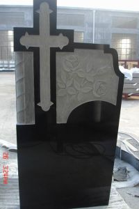 China Solemn Black Granite Tombstone pictures & photos