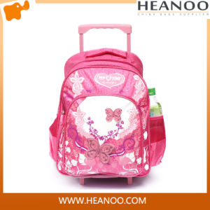 OEM Custom Student Rolling School Backpack with Wheels for Girls pictures & photos