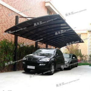 High Quality Waterproof Polycarbonate Aluminum Shade Net Carport