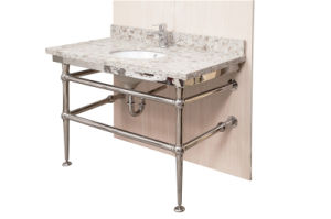 Manufacturers Direct Export to Europe and America Fashion Style Stainless Steel Sink Vanity Base (10-104) pictures & photos