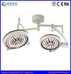 ISO/Ce Certified Ceiling Hospital Double Head LED Operating Room Lights pictures & photos
