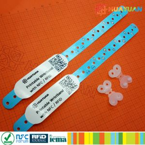 Event ticket MIFARE Classic 1K Economical and waterproof printable Vinyl Snap Wristbands pictures & photos