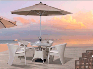 Outdoor Leisure Furniture Rattan 4+1 Table and Chair pictures & photos