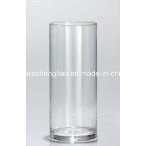 Clear Crystal Mouth-Blown Glass Vase (V-036) pictures & photos