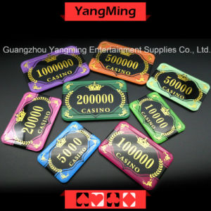 Acrylic Crystal / Crown Bronzing Poker Chips with Wheat Casino Chips (YM-CP30-31) pictures & photos