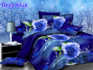 Blue Rose 4PCS Bedding Set of Hot-Selling in American Market pictures & photos