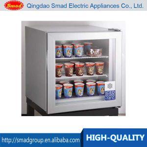 Cold Drink Freezer Ice Cream Freezer Vertical Freezer Glass Door pictures & photos