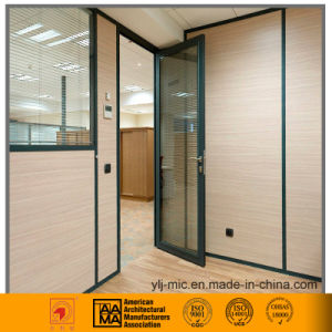 Aluminum Office Swing Door (Green/Powder Coated) pictures & photos