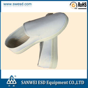 ESD Cloth Cleanroom Shoes (3W-9104) pictures & photos