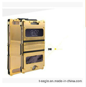 Ultra-Thin Metal Three Anti 24k Gold Mobile Phone Case for IP6 pictures & photos
