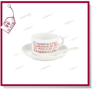 4oz Sublimation Personalized Ceramic Coffee Mug with Saucer pictures & photos