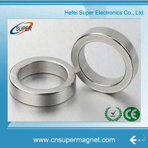 Nickel Plated 40*9-10mm Permanent NdFeB Ring Magnet pictures & photos