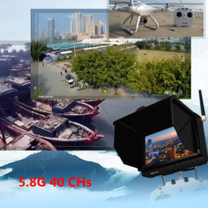Portable 5 Inch 5.8GHz Wireless 40 Channels DVR with Smart Sun Shield pictures & photos