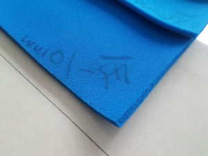 Red and Blue Silicone Sponge Rubber Sheet, Silicone Foam Rubber Sheet Special for Ironing Table and Industrial Seal pictures & photos