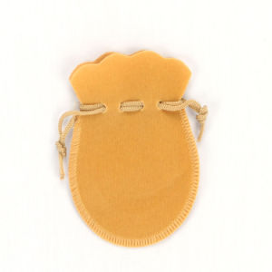 Yellow Drawstring Velvet Bags for Jewelry (CVB-1081) pictures & photos