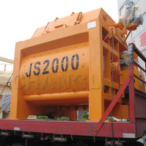 Js2000 Hot Sale Twin-Shaft Concrete Mixer Price pictures & photos