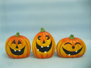 Halloween Pumpkin Ceramic Arts and Crafts (LOE2375-A9.5) pictures & photos