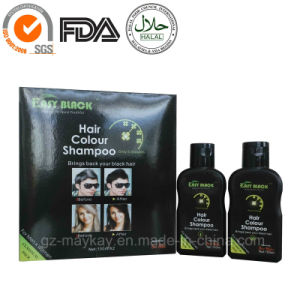 Easy Black Hair Colour Shampoo 100ml*2 pictures & photos