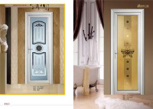 Powder Coated White Aluminum Casmenet Door for Hotel Bathroom pictures & photos