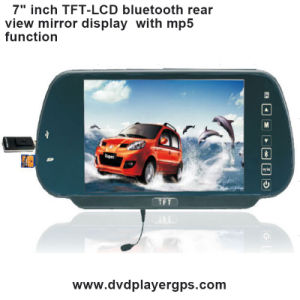 7inch Car Rearview Mirror Monitor with MP5 USB SD Bluetooth pictures & photos