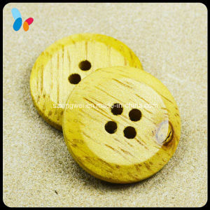 Original Nature Yellow Wood Button for Clothes pictures & photos