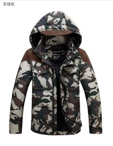 High Quality Soft Men Fashion Camo Down Jacket for Man pictures & photos