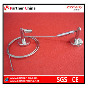 Stainless Steel Adjustable Curtain Rod with Wire Cable (14-002) pictures & photos