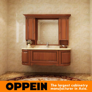 Oppein Luxury Solid Cherry Wood Bathroom Cabinet (OP15-200C) pictures & photos