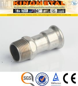 F304/316 Stainless Steel Press Fittings Inxo Coupling Male pictures & photos