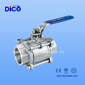 BSPP Thread 3PC Ball Valve with Ss304 Material pictures & photos